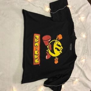 Tops - Juniors Pac-man cropped tee